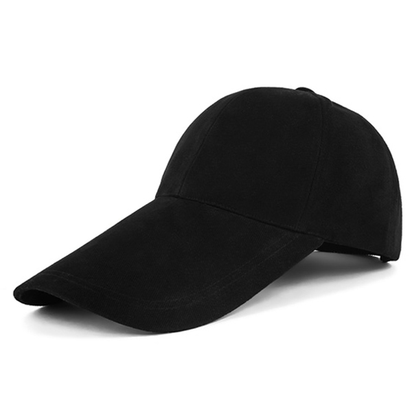 Long Brim Brushed Cotton Twill Baseball Hat
