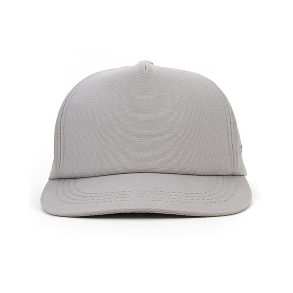 Blank 5 Panel Leather Strap Snapback Hat