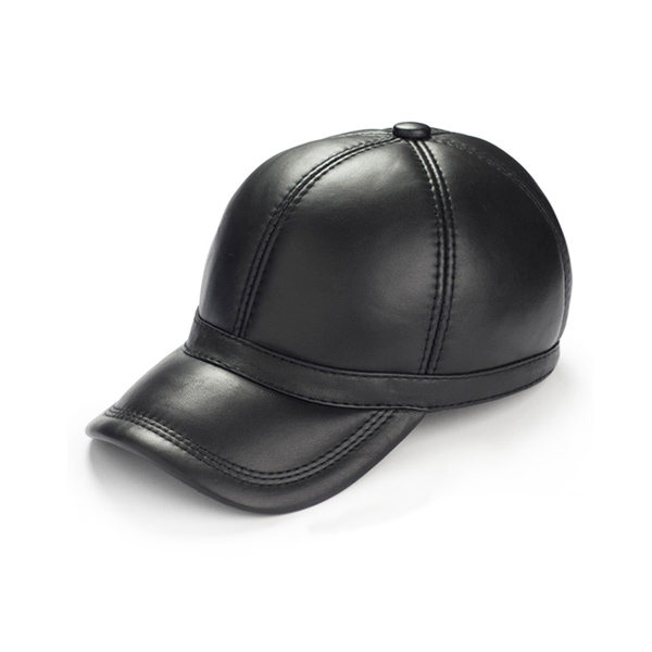 Premium Leather Winter Baseball Cap