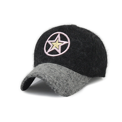 Designer Winter Wool Baseball Cap