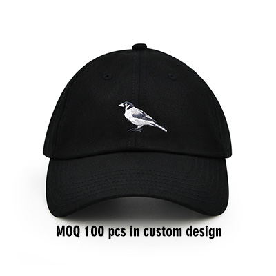 Bird Embroidery Strapback Dad Hat