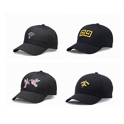 Embroidered Hats Wholesale Black Baseball Cap